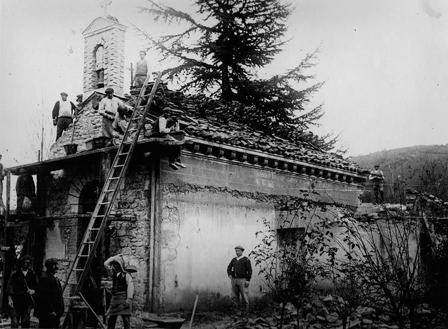 Refgormas en la capilla. 1907