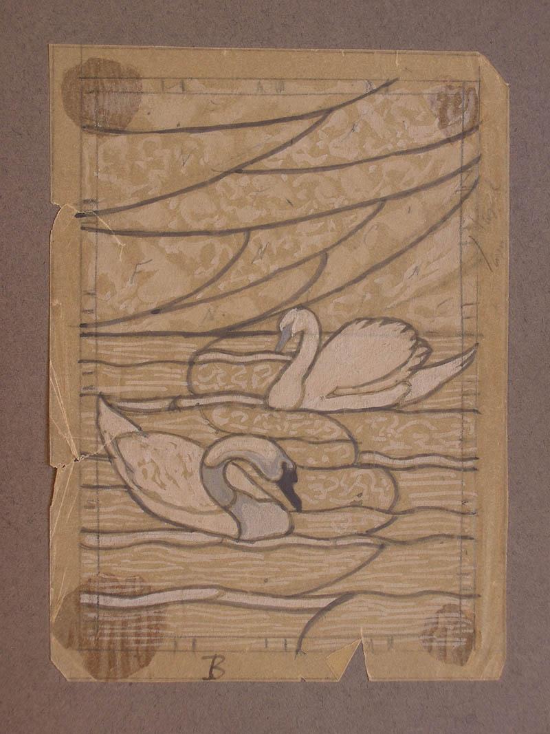 Boceto casa Maumejan cisnes